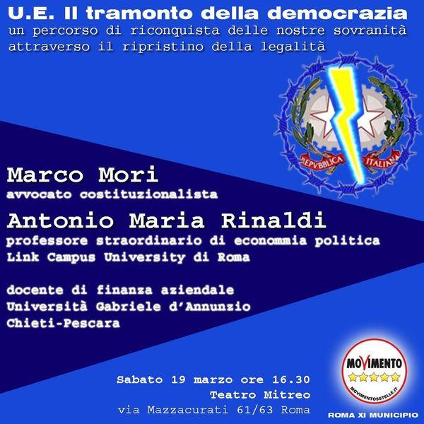 """Presentazione del libro """"Il tramonto della democrazia"""" con Marco Mori"""