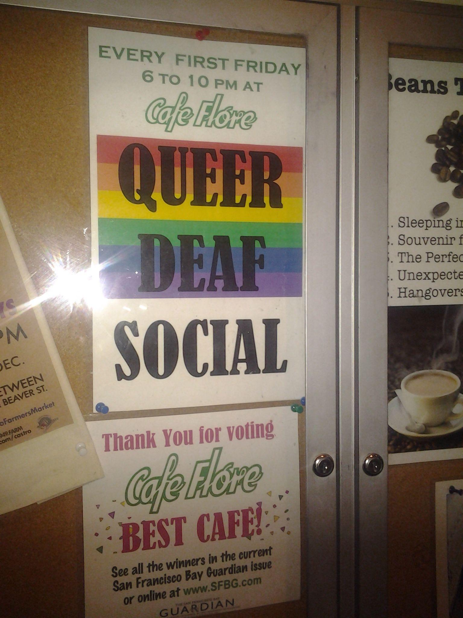 Deaf Social: SF LGBT Deaf Monthly Social-1st Fridays - SF LGBT Deaf ...: meetup.com/lgbt-deaf-hoh-and-asl-allies/events/226452179