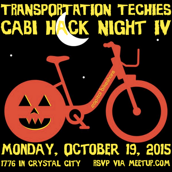 Transportation Techies CaBi Hack Night IV @ 1776 Arlington | Arlington | Virginia | United States