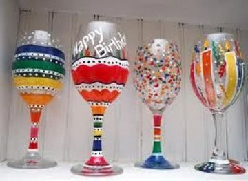 Learn to hand paint wine glasses