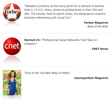 Professional business singles network