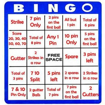 free printable bowling bingo cards Quotes