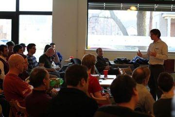 Watching the fun at GRWebDev's Javascript Frameworks Meeting