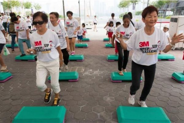 Let's Step, Jump, and Climb to Give CHANGE starting at One KM Singapore