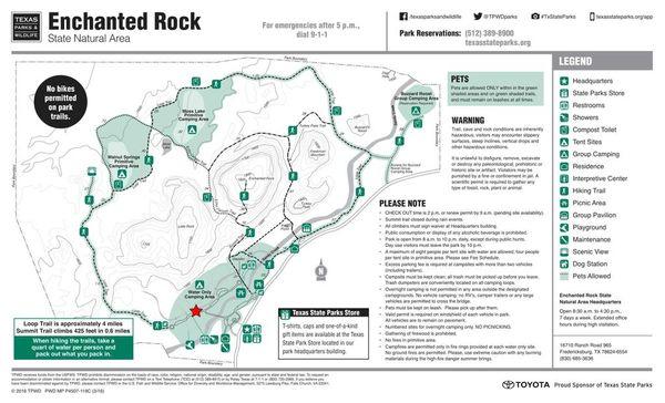 Hike At Enchanted Rock State Park San Antonio Outdoor: Enchanted Rock State Park Map At Usa Maps