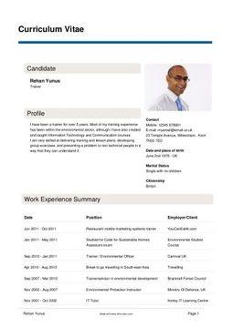 how to create a cv resume