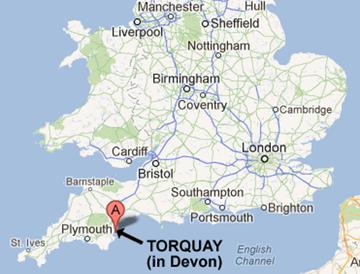Torquay England Map DVSIG2