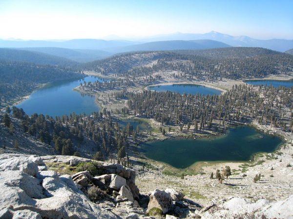 Cottonwood Lakes Elevation : Sierra nevada cottonwood lakes to upper rock creek loop