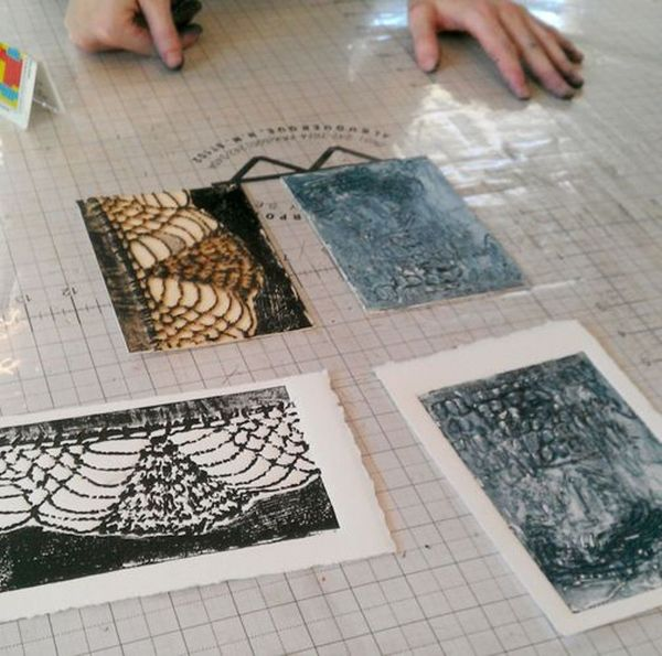 Collagraph: Sunday Morning – and helpful resources for entering art shows
