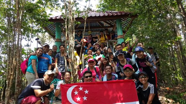 Refreshing Gunang Arong Leisure Hike  starting at Gunung Arong Recreational Forest Mersing Johor Malaysia