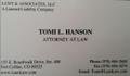 Tomi Hanson